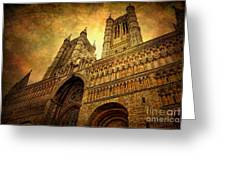 Lincoln Cathedral Greeting Card by Yhun Suarez