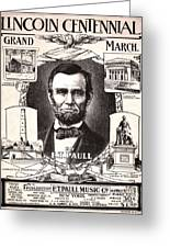 Lincoln Centennial, C1909 Greeting Card by Granger