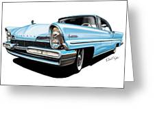 Lincoln Premier In Baby Blue Greeting Card by David Kyte