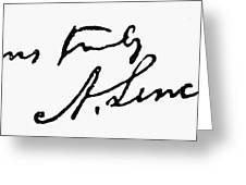 Lincolns Autograph Greeting Card by Granger