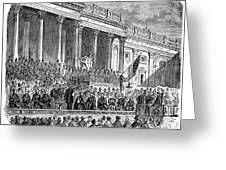 Lincolns Inauguration, 1861 Greeting Card by Granger