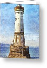 Lindau Lighthouse In Germany Greeting Card by Nikki Marie Smith