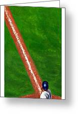 Line Drive Greeting Card by Harry West