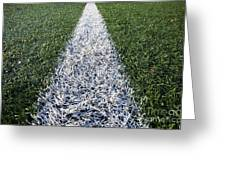 Line On Sports Field Greeting Card by Paul Edmondson