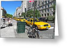Lined Up for Business Greeting Card by Randi Shenkman