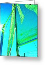 Lines And Sheets Greeting Card by Julie Lueders