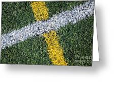 Lines On Sports Field Greeting Card by Paul Edmondson