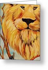 Lion Of Judah Greeting Card by Diana Kaye Obe