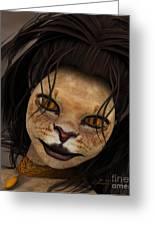 Lioness Greeting Card by Jutta Maria Pusl