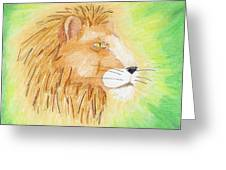 Lions Head Greeting Card by Mark Schutter