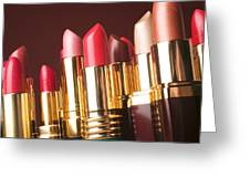 Lipstick Tubes Greeting Card by Garry Gay