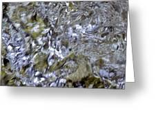 Liquid Crystals Greeting Card by Russ Harris