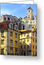 Lisbon Buildings Greeting Card by Carlos Caetano