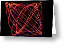 Lissajous Figure Greeting Card by Ted Kinsman