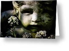 Little Boy Of Stone Greeting Card by Gun Legler