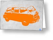 Little bus Greeting Card by Naxart Studio