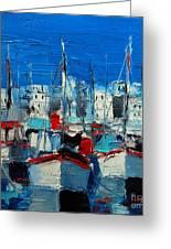 Little Harbor Greeting Card by Mona Edulesco