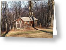 Little House In The Woods Greeting Card by Robert Margetts