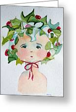 Little Miss Innocent Ivy Greeting Card by Mindy Newman