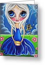 Little Miss Muffet Greeting Card by Jaz Higgins