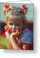Little Miss Sunshine Greeting Card by Talya Johnson