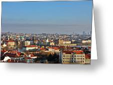 Little Mother Prague Greeting Card by Christine Till