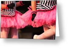 Little Pink Tutus Greeting Card by Lauri Novak