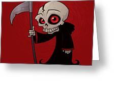 Little Reaper Greeting Card by John Schwegel