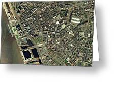 Liverpool, Uk, Aerial Image Greeting Card by Getmapping Plc