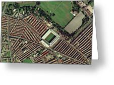 Liverpool's Anfield Stadium, Aerial View Greeting Card by Getmapping Plc
