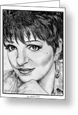 Liza Minnelli In 2006 Greeting Card by J McCombie