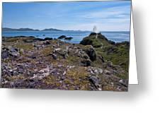 Llanddwyn Island Greeting Card by Meirion Matthias