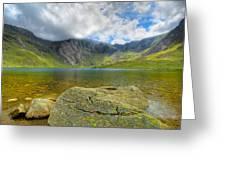 Llyn Idwal Greeting Card by Adrian Evans