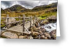 Llyn Idwal Bridge Greeting Card by Adrian Evans