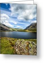 Llyn Idwal Lake Greeting Card by Adrian Evans
