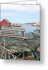 Lobster Pots Greeting Card by Kristin Elmquist