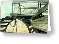 Lobster Traps Greeting Card by Frank Townsley