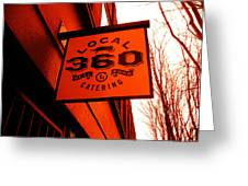 Local 360 In Orange Greeting Card by Kym Backland