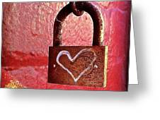 Lock/heart Greeting Card by Julie Gebhardt