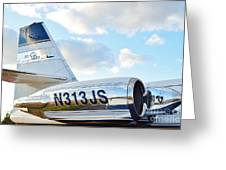 Lockheed Jet Star Greeting Card by Lynda Dawson-Youngclaus