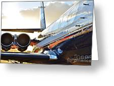 Lockheed Jet Star Side View Greeting Card by Lynda Dawson-Youngclaus