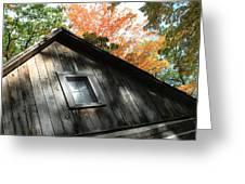 Log Cabin Greeting Card by Sheryl Burns