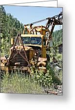 Logging Truck - Burke Idaho Ghost Town Greeting Card by Daniel Hagerman