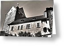 Loket Castle Tower - Czech Republic Greeting Card by Juergen Weiss