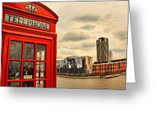 London Calling Greeting Card by Jasna Buncic