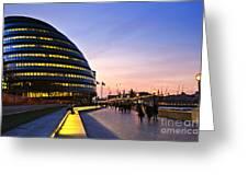 London City Hall At Night Greeting Card by Elena Elisseeva