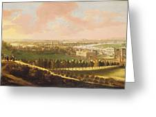 London From Greenwich Hill Greeting Card by  English School