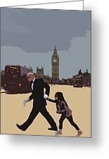 London Matrix Baddie Agent Smith Greeting Card by Jasna Buncic