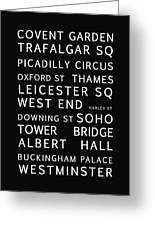 London Greeting Card by Nomad Art And  Design