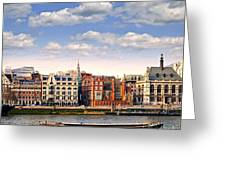 London Skyline From Thames River Greeting Card by Elena Elisseeva